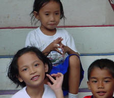 Three filipino children